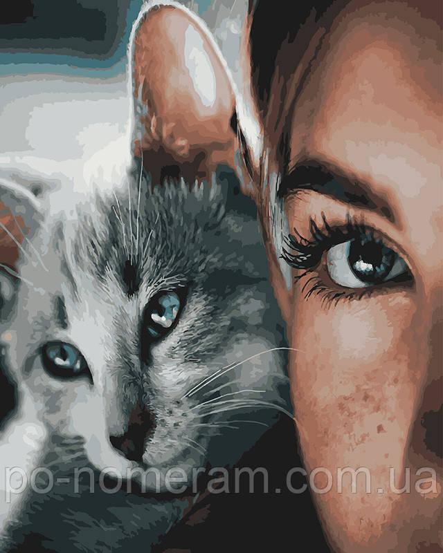 Раскраска для взрослых Глаза кошки (BK-GX28453) 40 х 50 см ...