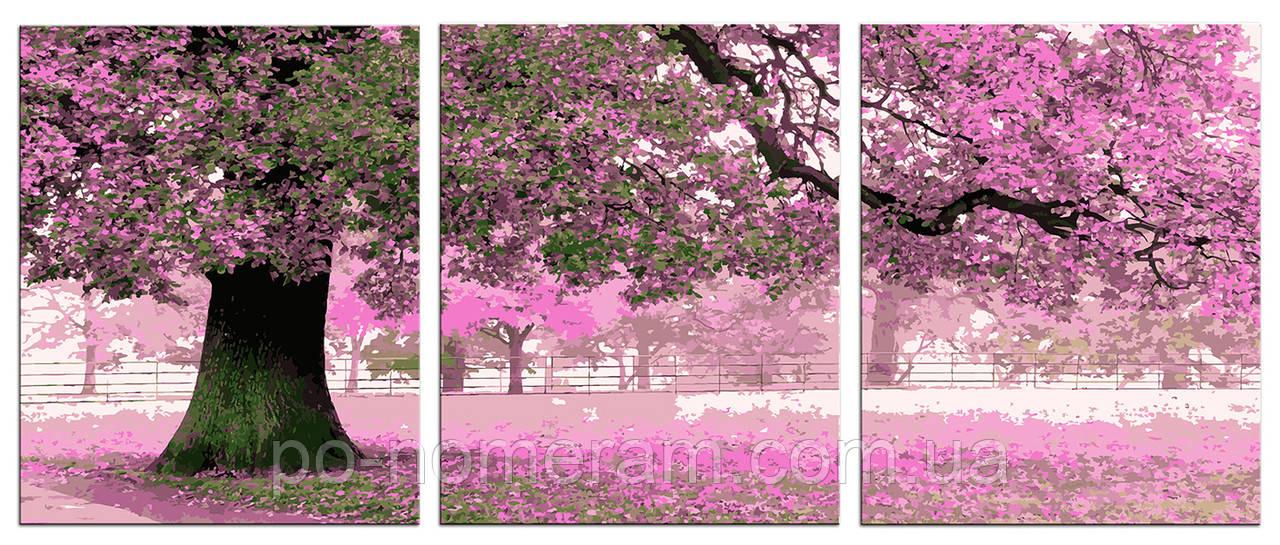 Картина за номерами Весняний колір (P036) 50 х 120 см