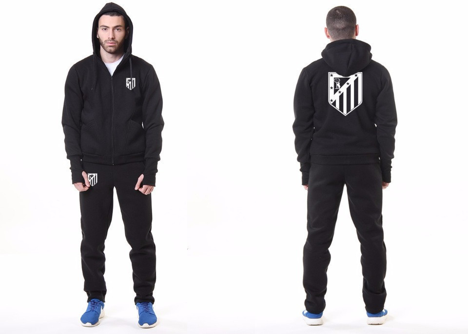 Мужской спортивный костюм Атлетико, Atletiko, Найк, Nike, черный