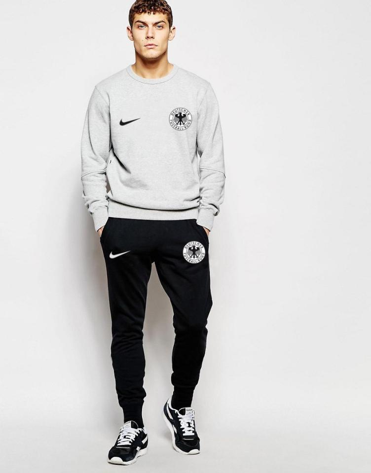 Мужской спортивный костюм сборной Германии, Germany, Adidas, Адидас, серо-черный