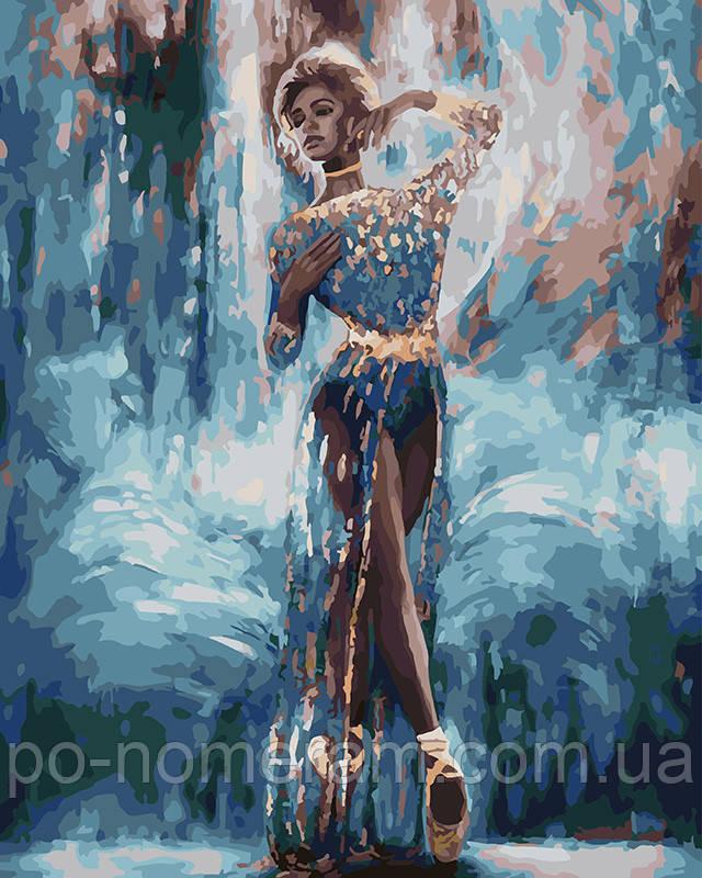 Картина раскраска Леди в голубом платье (BRM25994) 40 х 50 ...