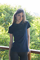 Женская футболка Поло темно-синий, фото 1
