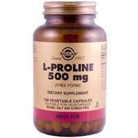 L-пролин (L-Proline), Solgar, 500мг, 100 капсул
