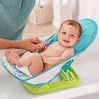 Лежак шезлонг для купання з підголовником Summer Infant Deluxe Baby Bather, Triangle Stripe