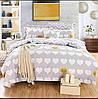 Комплект постельного белья двуспальный, 180х220см ранфорс на резинке 100% хлопок. (арт.12059)
