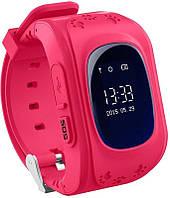 Детские часы-телефон с GPS  WONLEX Q50 Pink