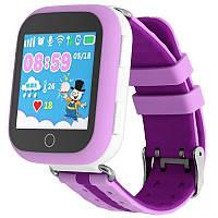 Детские умные часы-телефон с GPS трекером Smart Watch Q100 Сиреневые, фото 1