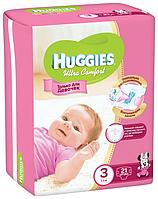 HUGGIES Ultra Comfort подгузники для девочек 3 (5-9кг) 1 шт  хаггис