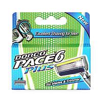 Сменные кассеты для бритья Dorco Pace 6 Plus - 4 шт (3020), фото 1