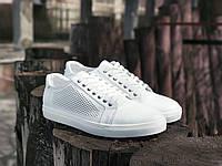 Кеды мужские ROKA кожаные белые / высокое качество