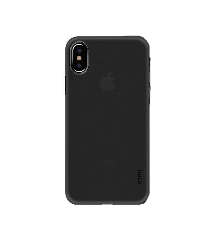 Пластиковая накладка Hoco Ultra Thin для iPhone X Черный (H-CBIX)