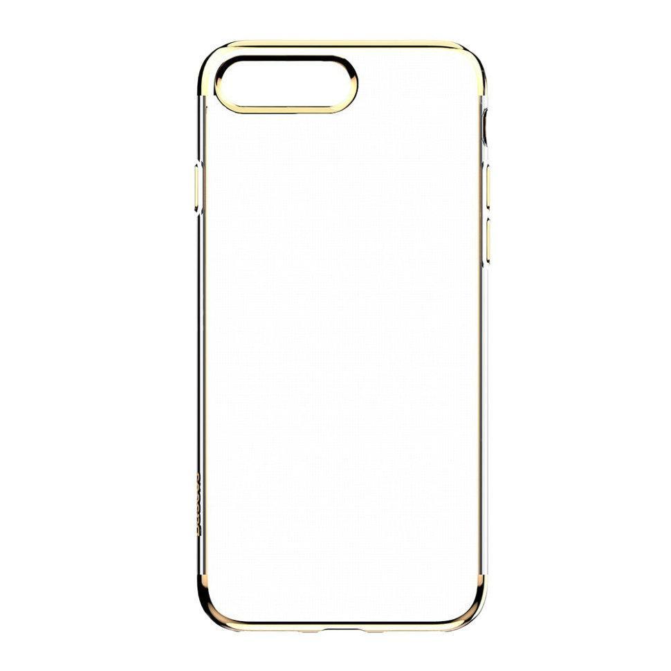 Силиконовый чехол Baseus Shining для iPhone 7 Plus Золотой (ARAPIPH7P-MD0R)