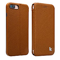 Чехол книжка JisonСase leather folio для iPhone 7/8 Plus Коричневый (JS-I7L-13C20)