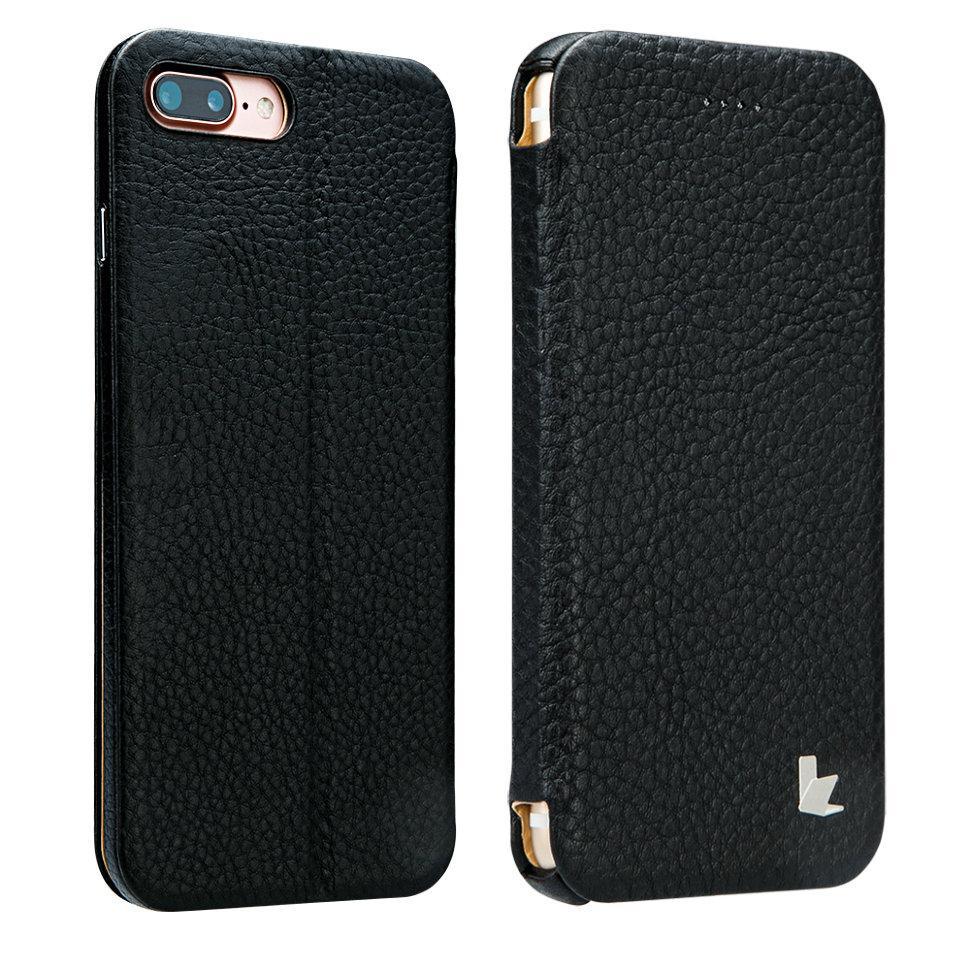 Чехол-книжка JisonСase leather folio для iPhone 7 Plus Черная (JS-I7L-13C10)