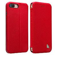 Чехол-книжка JisonСase leather folio для iPhone 7/8 Plus  Красный (JS-I7L-13C33)