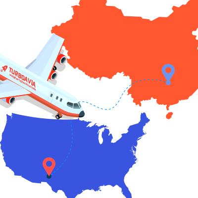 Авіадоставка з Китаю в США