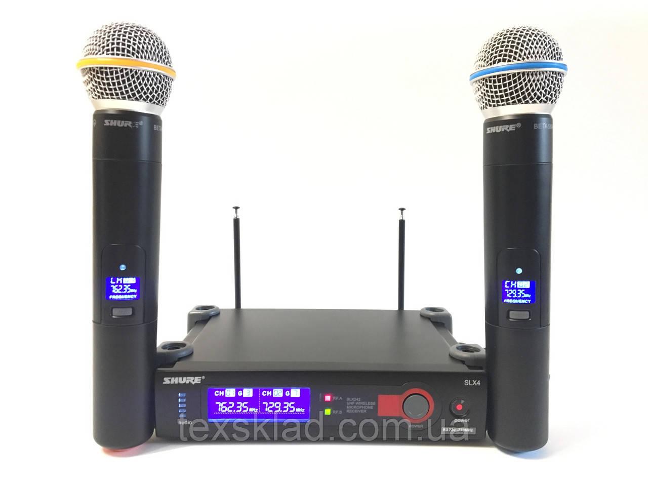 Микрофоны беспроводные SHURE SLX4/Beta 58A