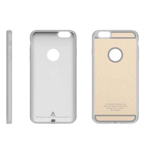 Чехол со встроенным ресивером для iPhone 6/6S Ytech White-gold