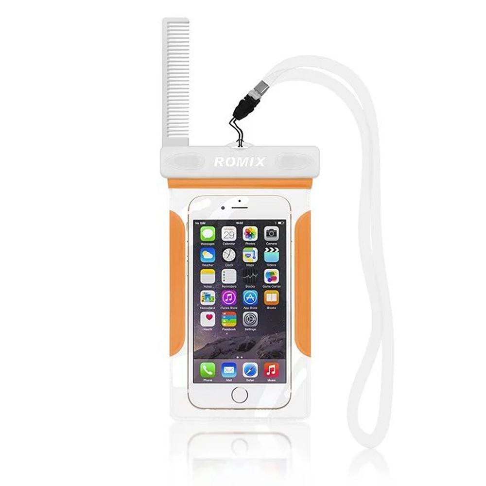 Чехол для мобильного телефона ROMIX водонепроницаемый Оранжевый (RH12OR)