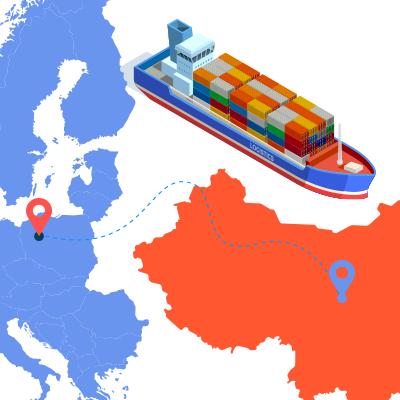 Морська доставка з Китаю в Європу