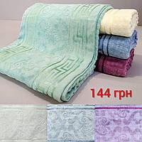Банное полотенце махровое с узором
