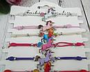 Браслеты тонкие на резинке Единороги цветные 12 шт/уп., фото 2