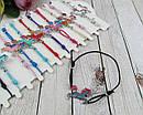 Браслеты тонкие на резинке Единороги цветные 12 шт/уп., фото 3