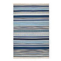 IKEA VONSILD Ковер безворсовый, ручной работы различные оттенки синего (704.385.40)