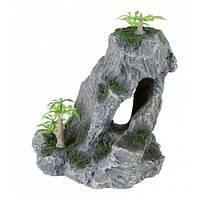 Trixie Скала с растениями - декорация для аквариума