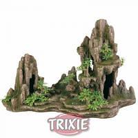 Trixie Скала с пещерой и растениями - декорация для аквариума