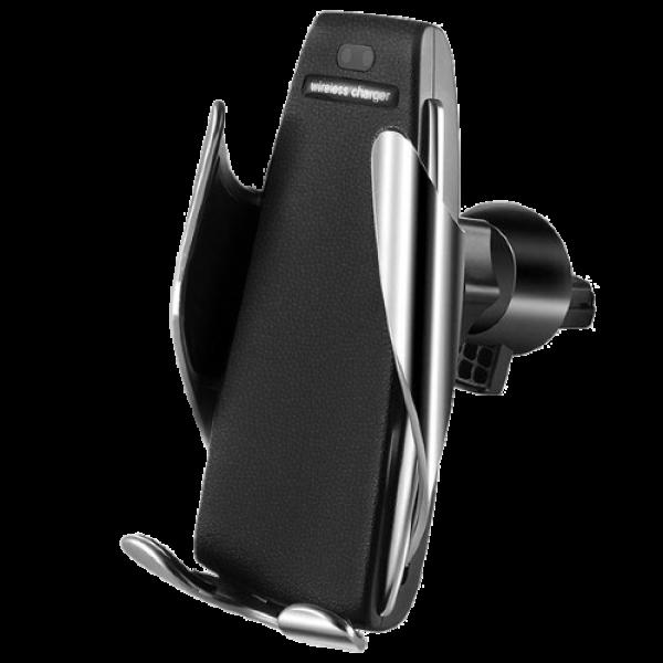 Автомобильный держатель с беспроводной зарядкой Smart Sensor S5 Black