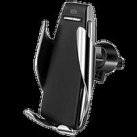 Автомобильный держатель с беспроводной зарядкой Smart Sensor S5 Black, фото 1