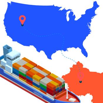 Морская доставка из Китая в США