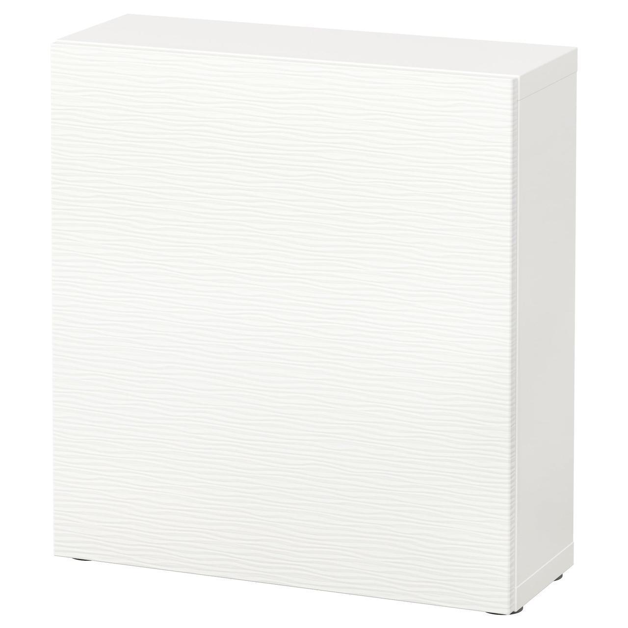 IKEA BESTA Стеллаж с дверями, Лаксвикен белый  (890.466.41)