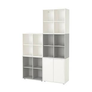 IKEA EKET Шкаф с ящиками, белый/светло-серый  (192.210.87)