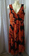 Платье женское легкое летнее в цветах батал бренд Bonprix р.54, фото 1
