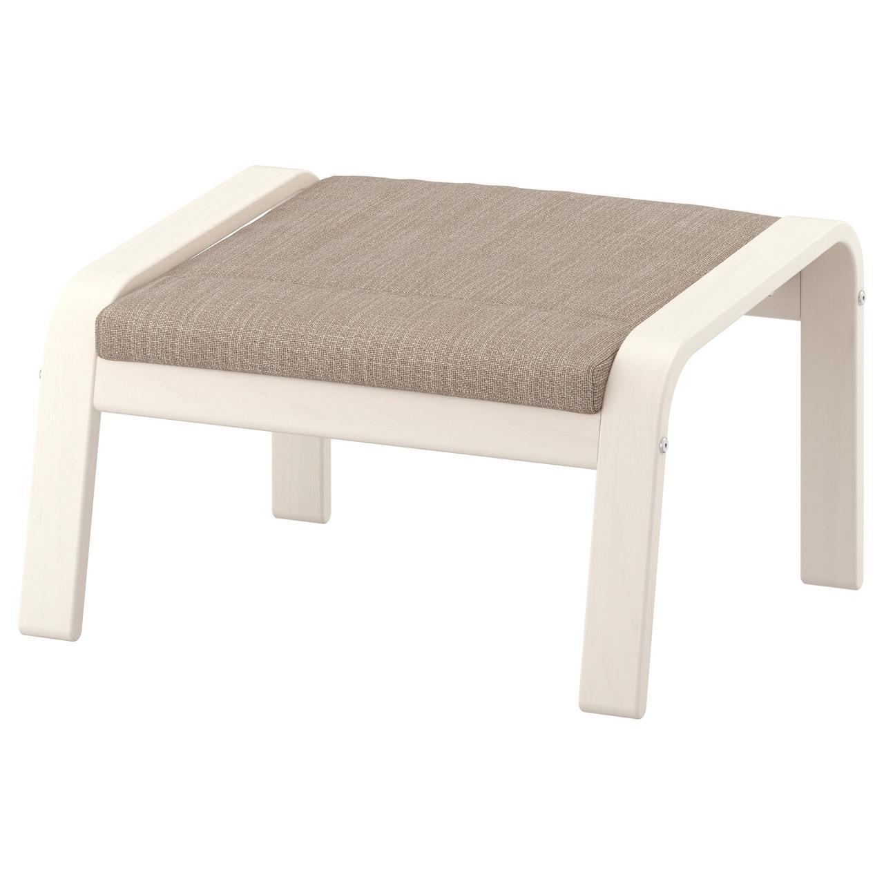 IKEA POANG Подставка для ног, белый, Hillared бежевый  (791.978.57)
