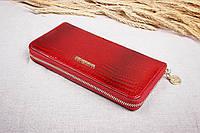 Женский кожаный кошелек на молнии Cossroll темно-красный A14071-3124-1, фото 1