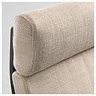 IKEA POANG Кресло, черно-коричневый, Hillared бежевый  (691.977.54), фото 3