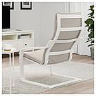 IKEA POANG Кресло, белое, Книса светло-бежевый  (392.408.05), фото 3