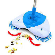 Механическая щётка веник для уборки пола Spin Room. Вращающаяся щетка, фото 2