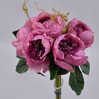 Букет из  Пионов капустный фиолетовый  Цветы искусственные