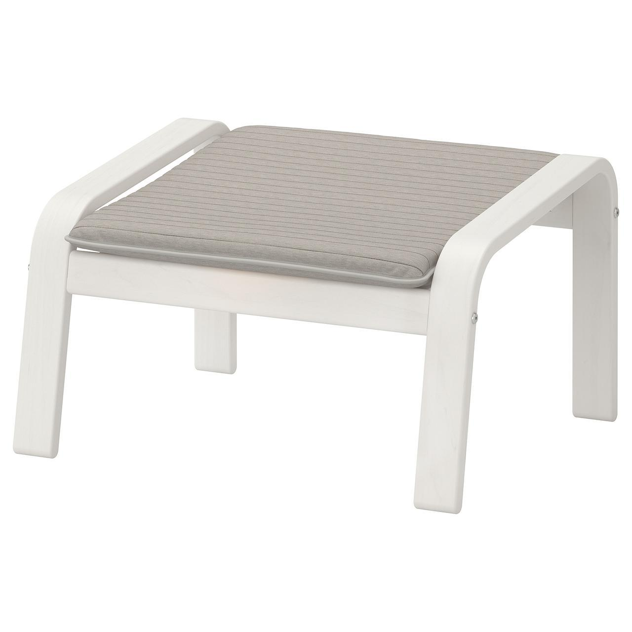 IKEA POANG Подставка для ног, белый, Книса светло-бежевый  (892.446.98)