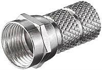 Конектор антенний FreeEnd-RF:F (конектор) Goobay /M накручується D=6.5mm zinc 10 шт (75.05.1853)