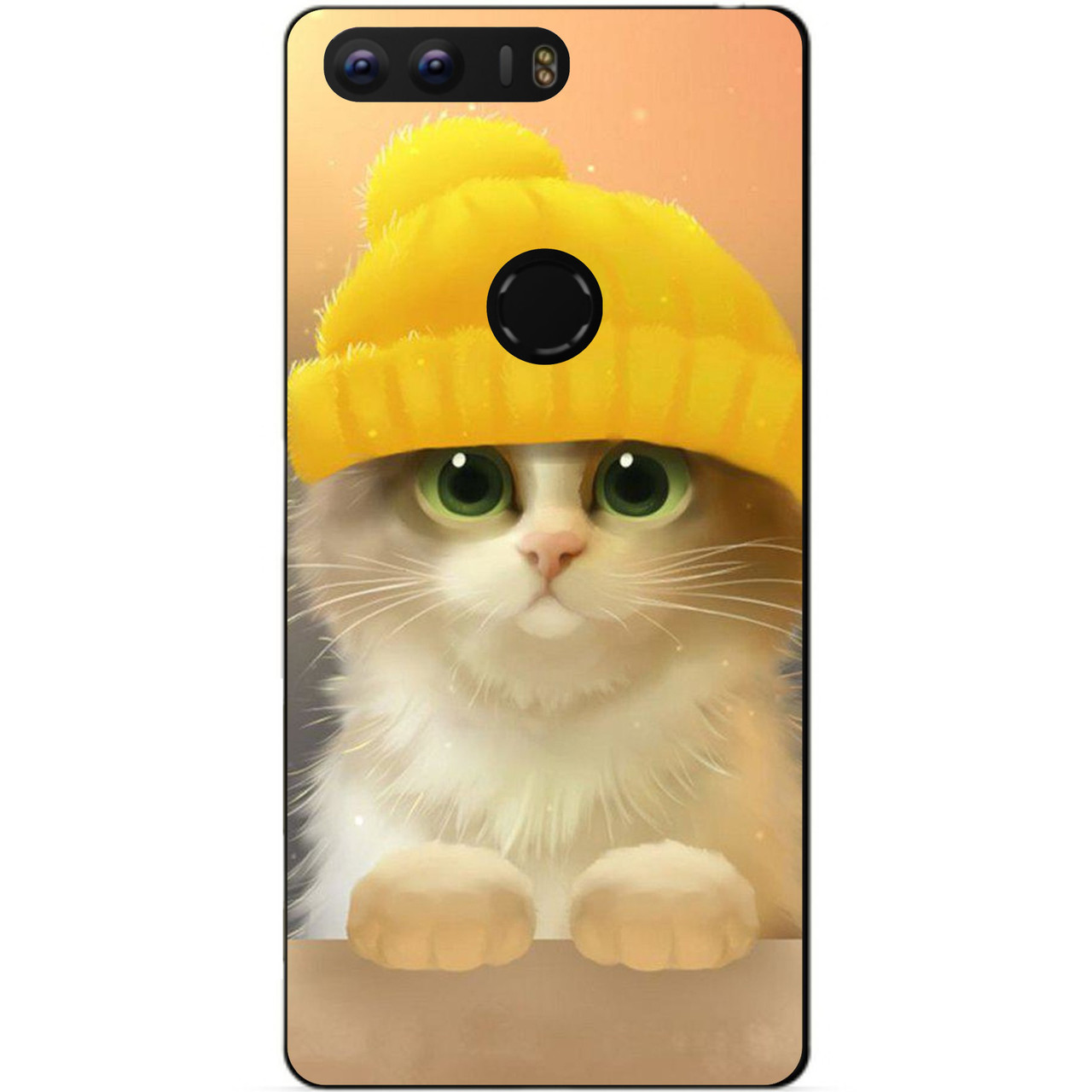 Силиконовый бампер чехол для Huawei Honor 9 с рисунком Котик в шапке