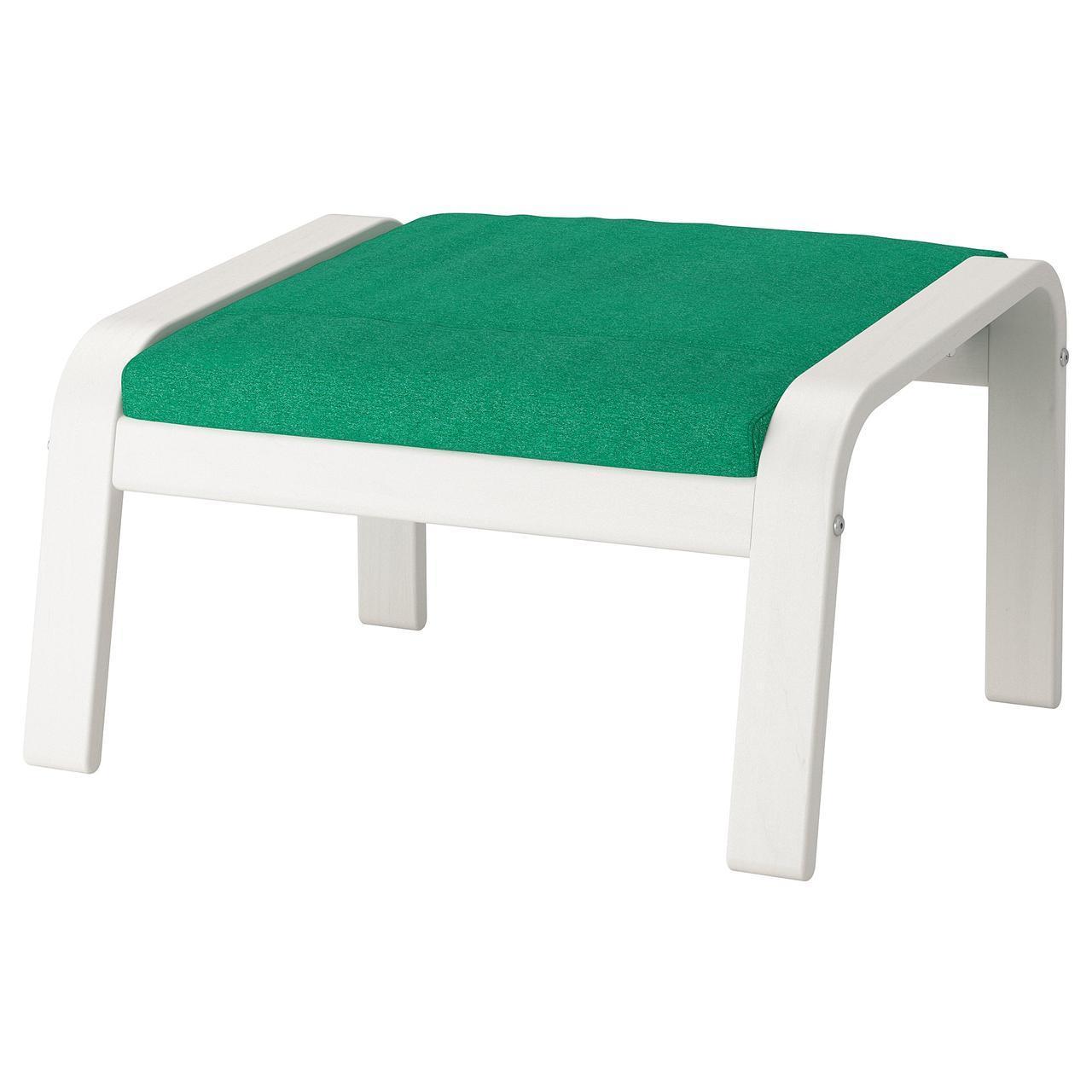 IKEA POANG Подставка для ног, белый, лизированы жаскравозиелони  (492.514.45)