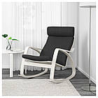 IKEA POANG Кресло-качалка, белый, Hillared антрацит  (692.010.44), фото 2