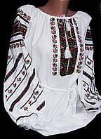 Национальная вышиванка Богуславна на домотканом полотне, фото 1