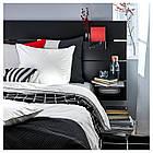 IKEA KUNGSBLOMMA Комплект постельного белья, белый, серый  (004.230.90), фото 3