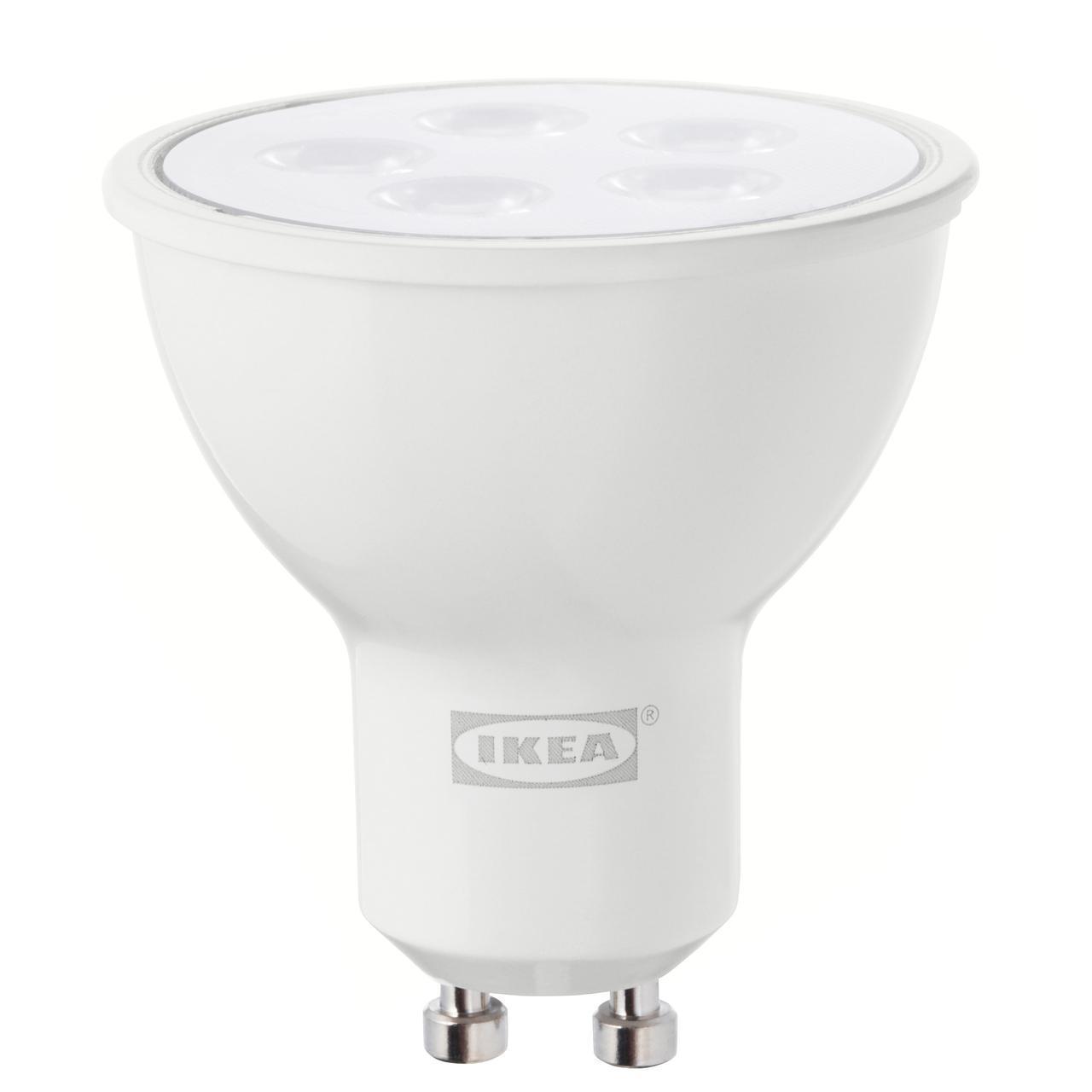 IKEA TRADFRI Светодиодная лампа GU10 400 люмен, беспроводная регулировка яркости теплый белый (803.652.70)